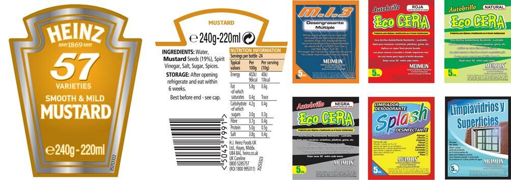 ejemplos de etiquetas de productos