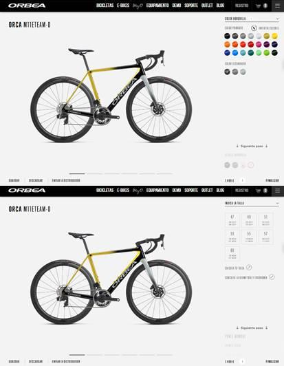 elementos personalizables en las bicicletas con la app