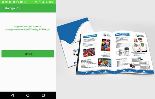 funcionamiento de la aplicacion y catálogo de la red