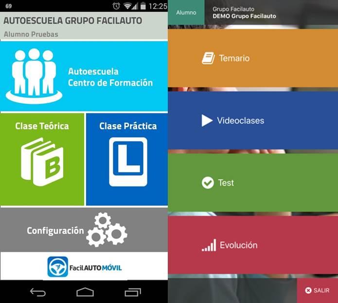 funciones de la aplicación facilauto móvil