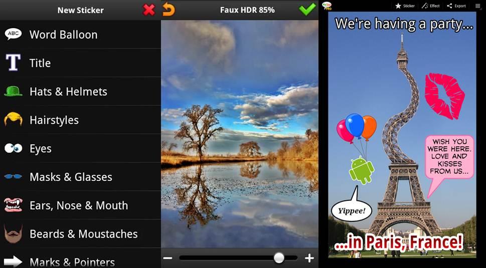funciones y ejemplos de edición con la app