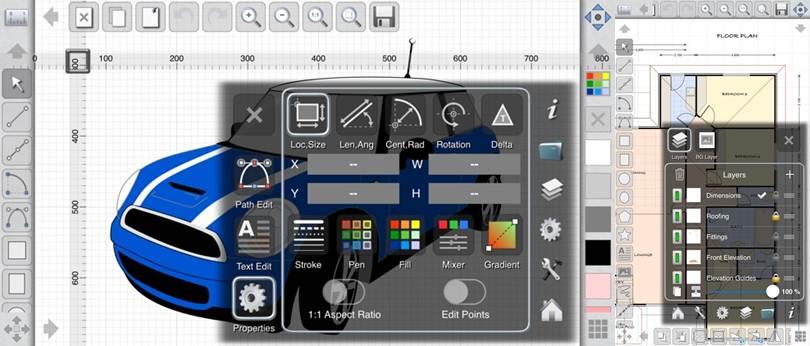 herramientas de la app idesign