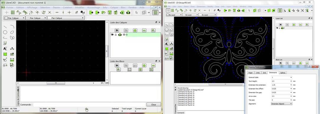herramientas y escritorio del programa