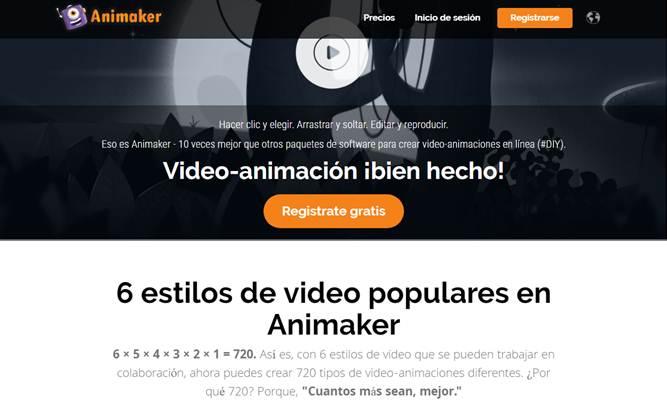 ingresar a animaker en la web