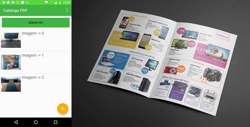 interfaz de catálogo fotos pdf y catálogo de la red