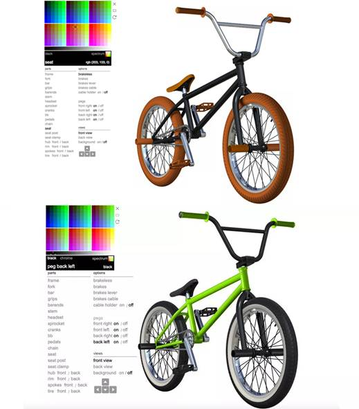 interfaz de la app bmx color