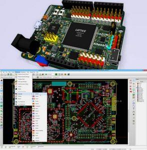 interfaz de usuario y maqueta en kicad