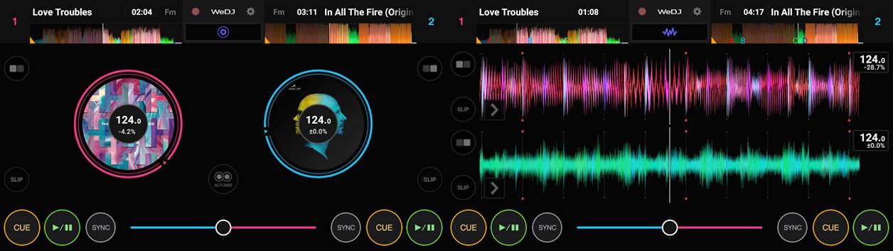 interfaz del móvil en la aplicación