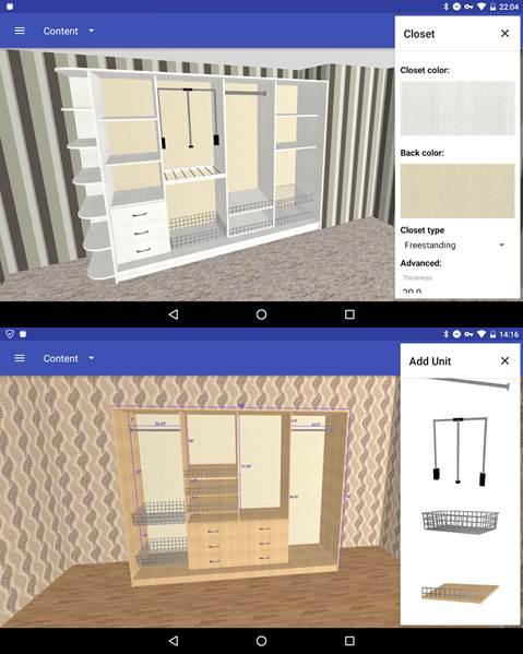 interfaz y herramientas de la aplicación