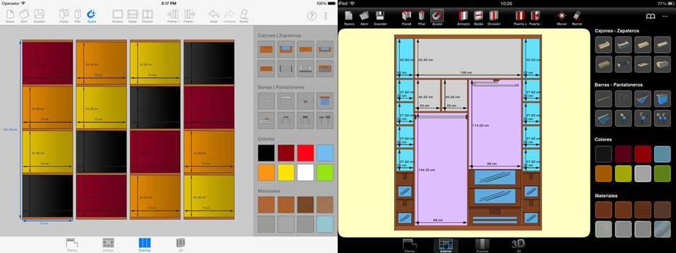 interfaz y herramientas de la app sketch arm