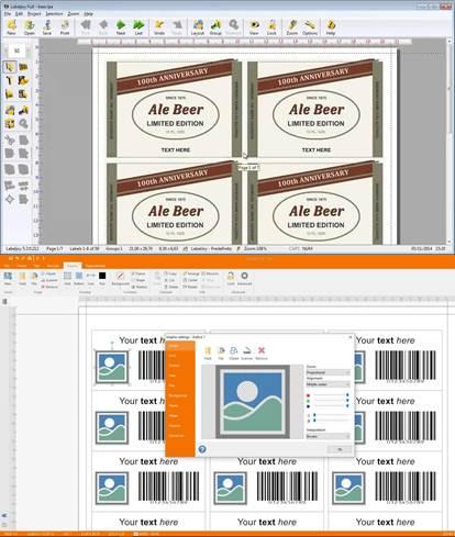 interfaz y ventajas de descargar labeljoy