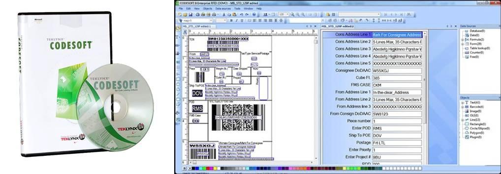 logo a interfaz del programa codesoft