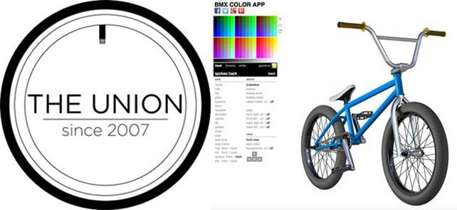 logo de bmx union e interfaz de bmx color