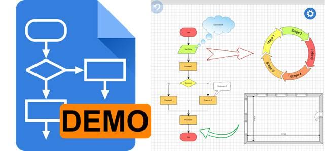 logo de grapholite diagrams demo y diagrama de ejemplo