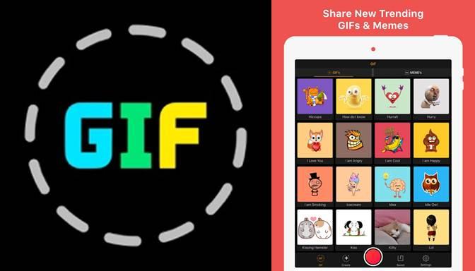 logo de la aplicación para hacer gif gif maker - video a gif creator