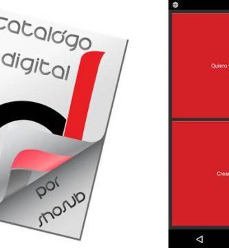 logo e inicio de la app catálogo digital