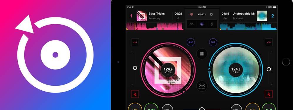 logo e interfaz de la app wedj