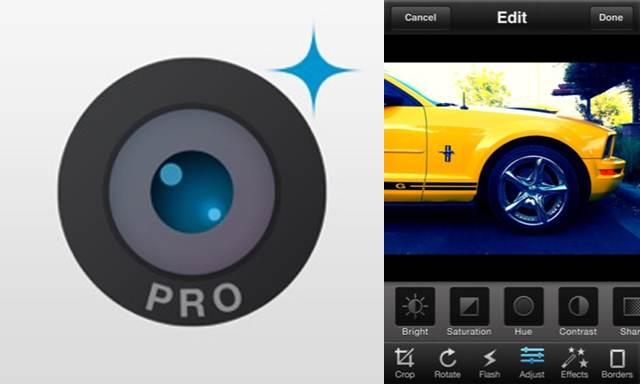 logo y antigua interfaz de camera plus pro
