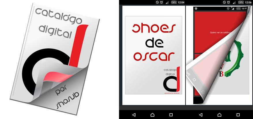 logo y catálogo de muestra en catálogo digital