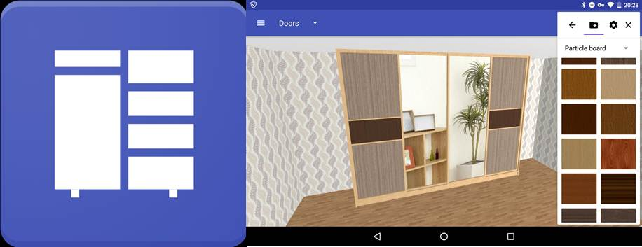 logo y diseño de closet con closet planner 3d