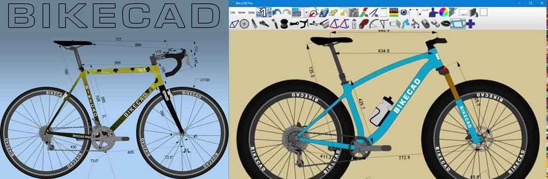 logo y diseño de ejemplo en bikecad