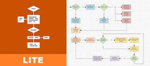 logo y ejemplo de diagrama de flowdia diagrams demo