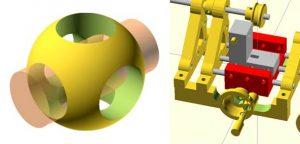 logo y ejemplo de diseño con openscad