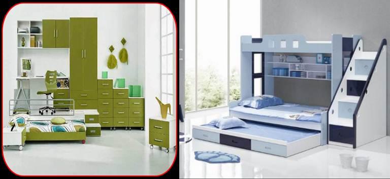 logo y ejemplo de diseño en diseño de camas para adolescentes