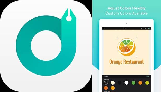 logo y ejemplo de logo hecho en la app designevo