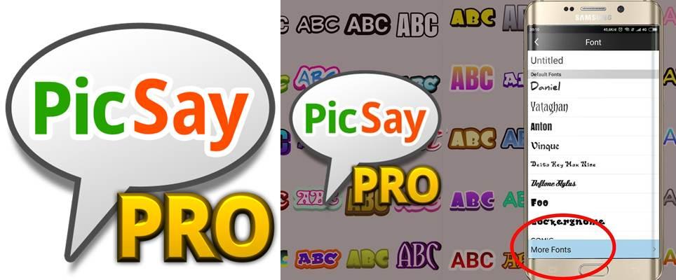 logo y fuentes disponibles en picsay pro