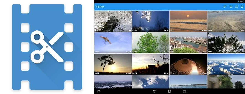 logo y galería de vídeos en vidtrim pro