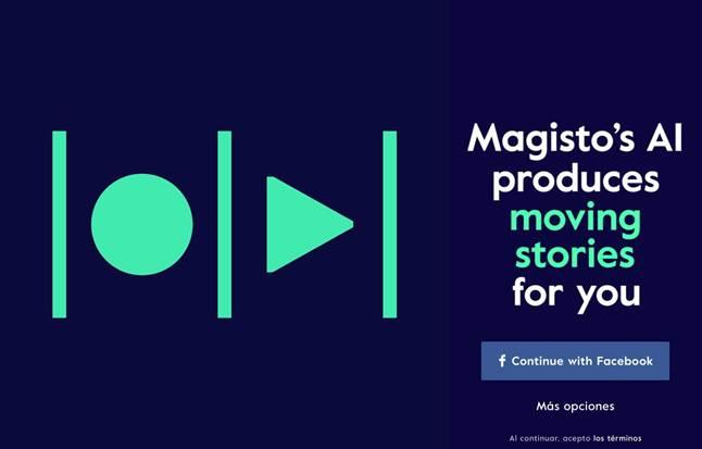 logo y pantalla de inicio de magisto