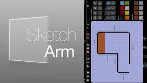 logo y plano de closet en la app sketch arm