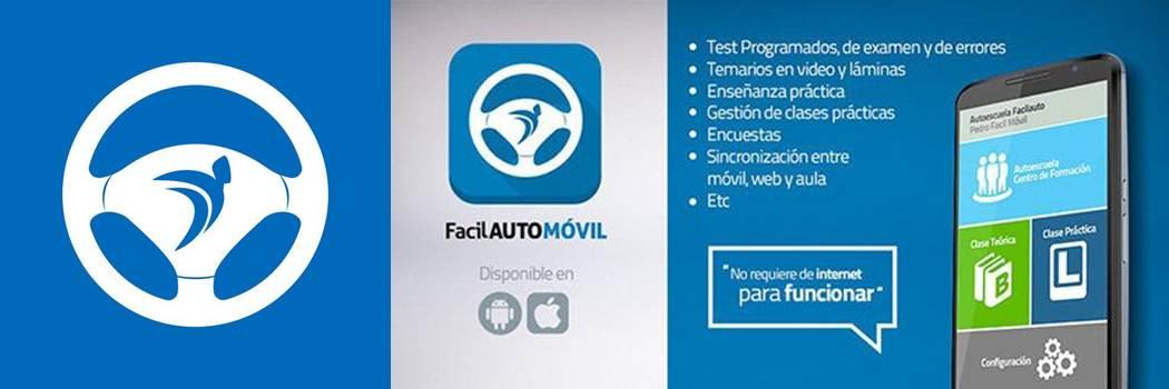 logo y publicidad de facilauto móvil