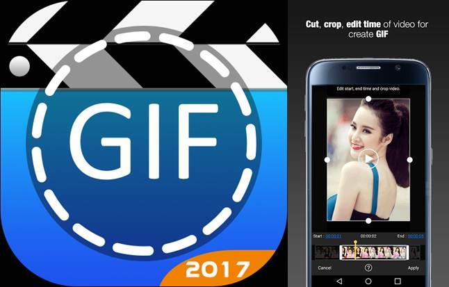 logo y publicidad de gif maker - editor de gif