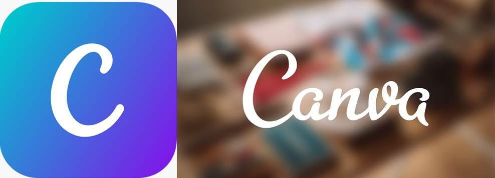 logo y publicidad de la app canva
