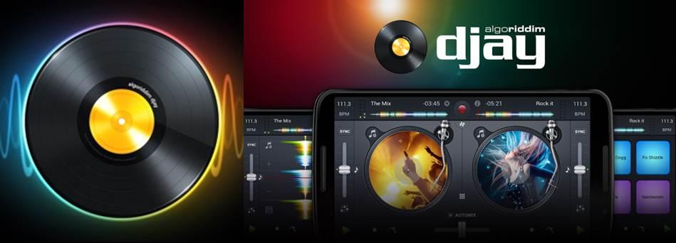 logo y publicidad de la app djay 2