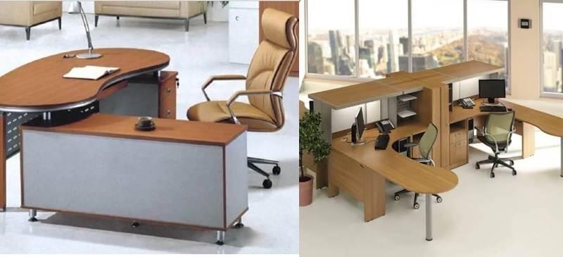 maquetas de diseño en la app muebles de oficina