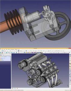 modelados CAD hechos con freecad