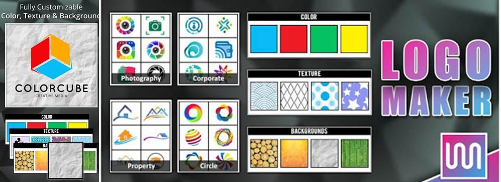 opciones de configuración de la app logo maker