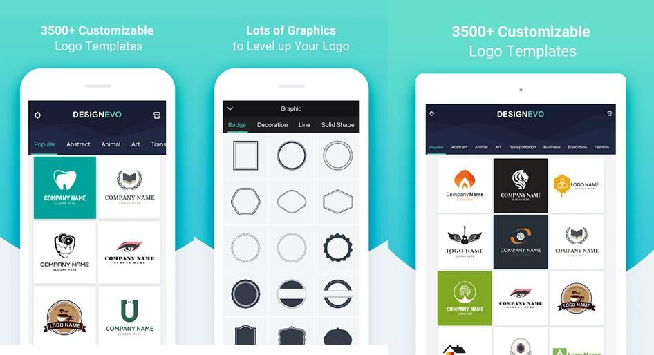 opciones de configuración en la app designevo