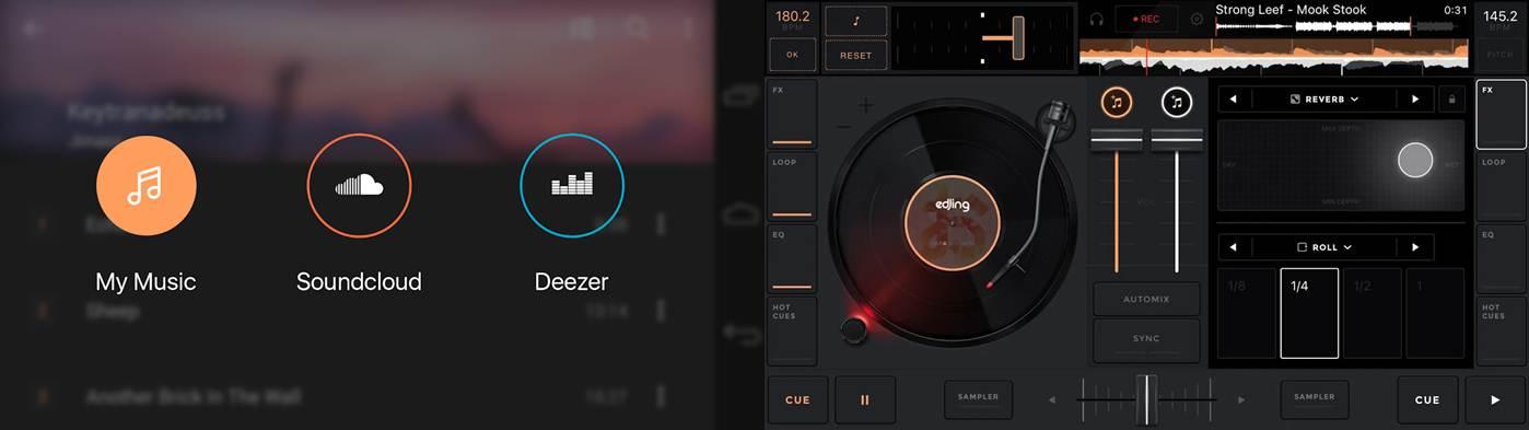opciones destacadas de edjing mix música dj mezclador