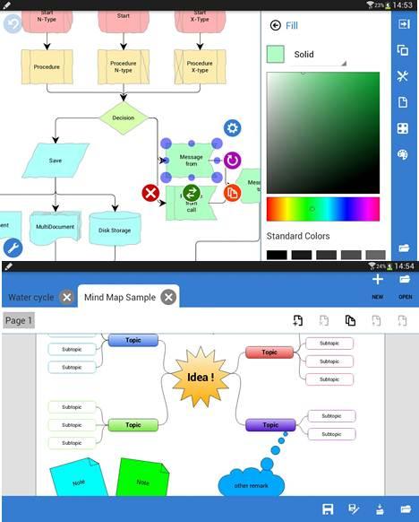 opciones disponibles en grapholite diagrams demo