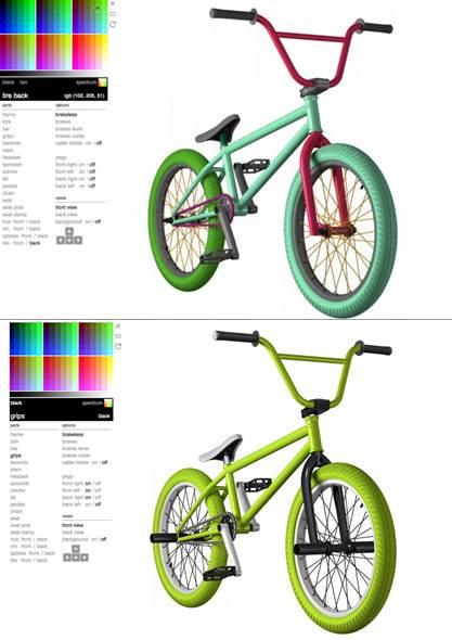 paleta de colores disponible en la aplicación
