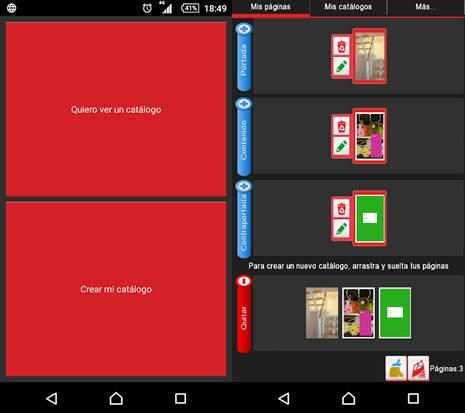 pasos para crear un catálogo en la app