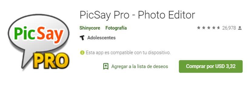 picsay pro en google play store