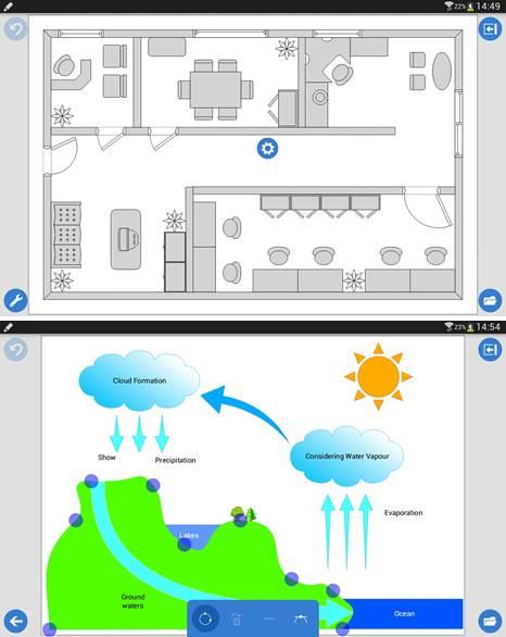 plano y esquema creado con grapholite diagrams demo