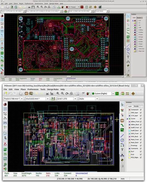 planos en 2d de circuitos diseñados en kicad