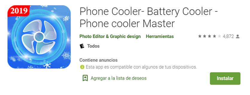 descargar phone cooler