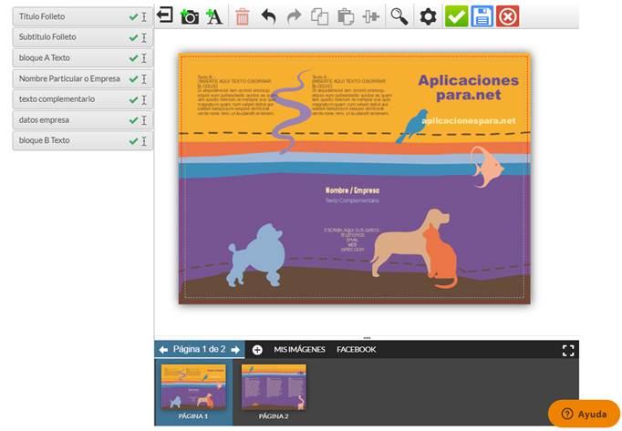 funcionamiento de la app web printadera